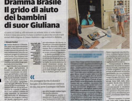 Jornais italianos incentivam a captação de fundos em prol dos nossos alunos diante da pandemia