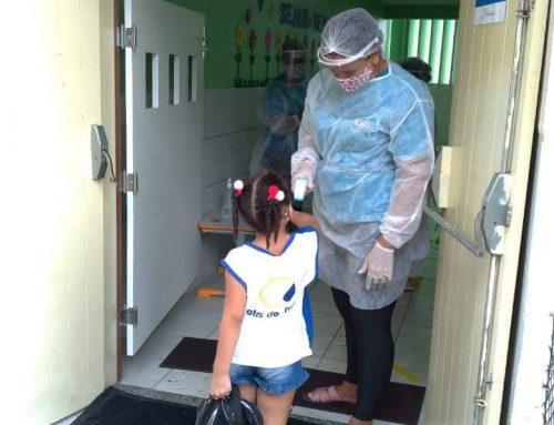 Retorno das aulas presenciais – Turmas do Infantil IV e V da Educação Infantil do Instituto Irmã Giuliana Galli.