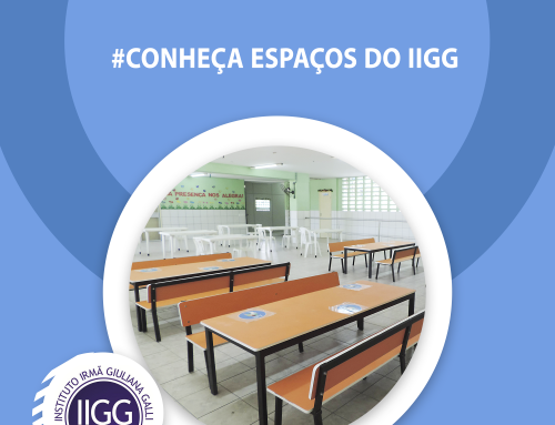 Hoje é dia de apresentar mais um espaço no #conheça espaços do IIGG!!! Conheçam o refeitório escolar da Creche Gotas de Amor