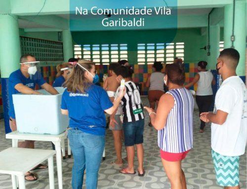 Ação social beneficia famílias da Comunidade Vila Garibaldi no bairro da Serrinha