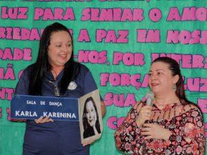 Homenagem a madrinha do IIGG - Placa com nome e foto Karla Karenina