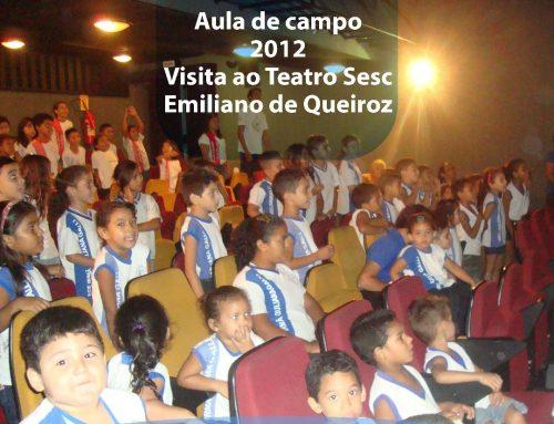 E o nosso #TBT de hoje, é da aula de campo – Visita ao Teatro Emiliano Queiroz