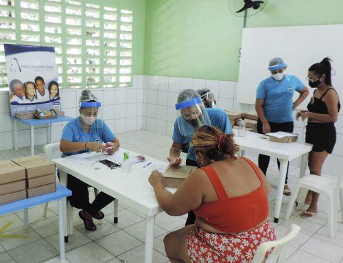 Entrega do chip e kit pedagógico para as crianças da Creche Gotas de Amor, iniciando com as turmas do Infantil III A/B